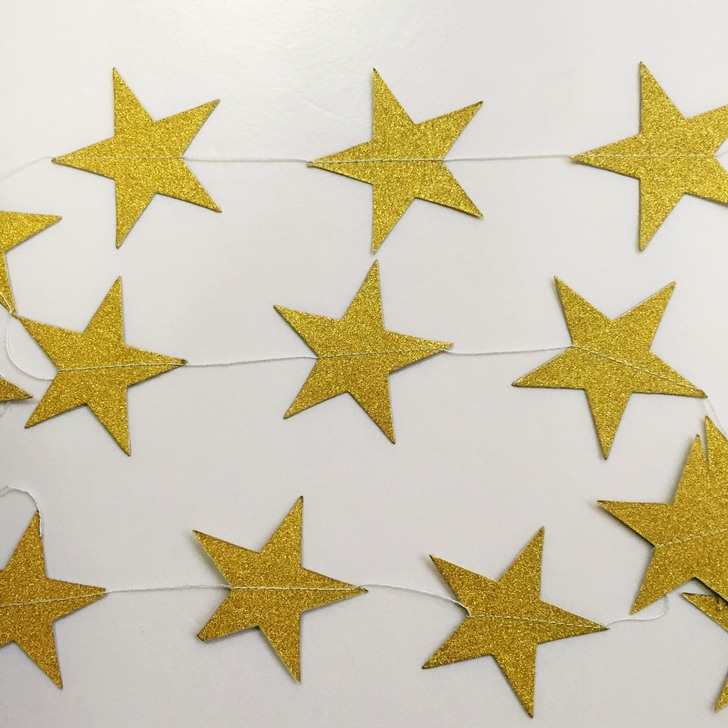 gold star garland for party decoration
