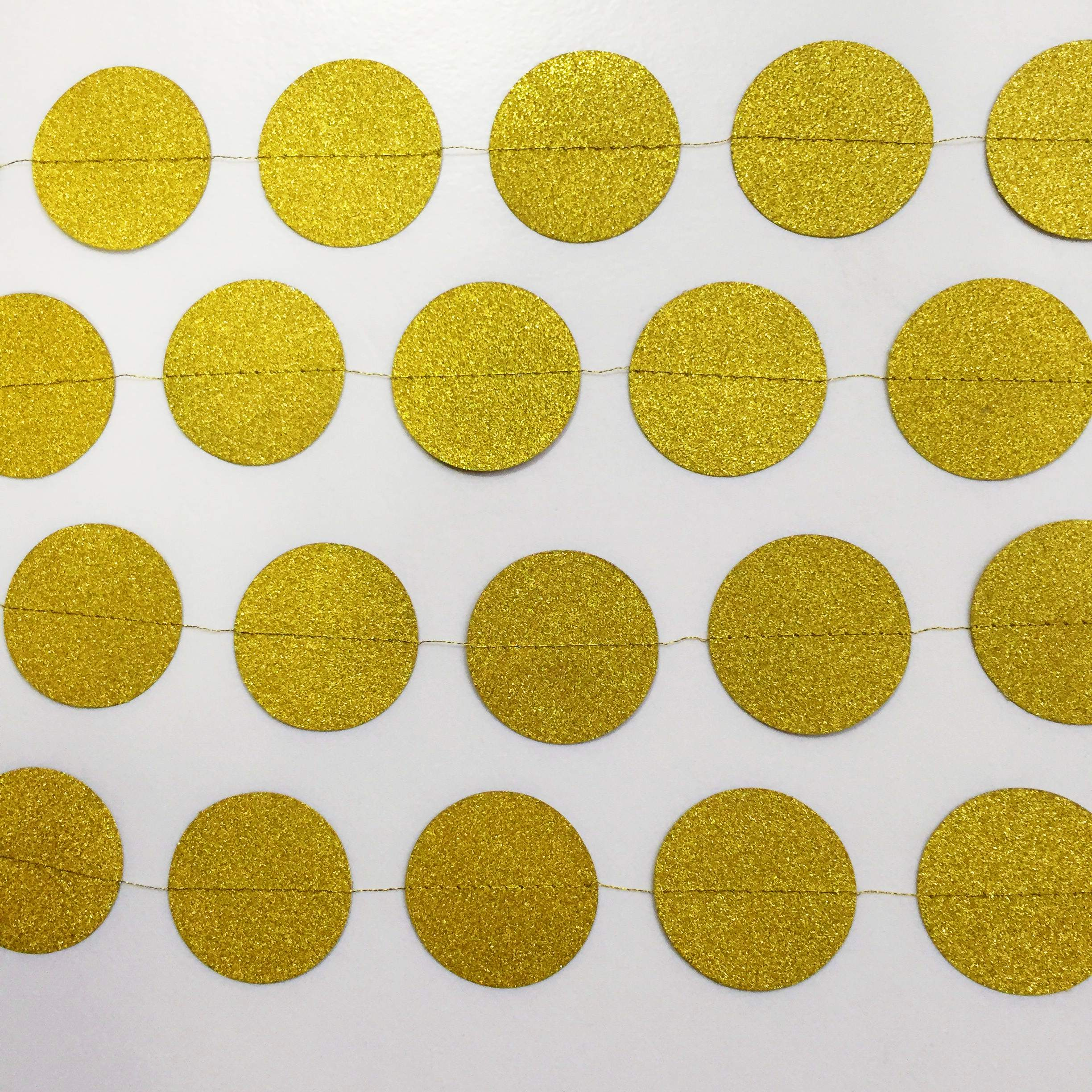 circle gold garland for party decoration
