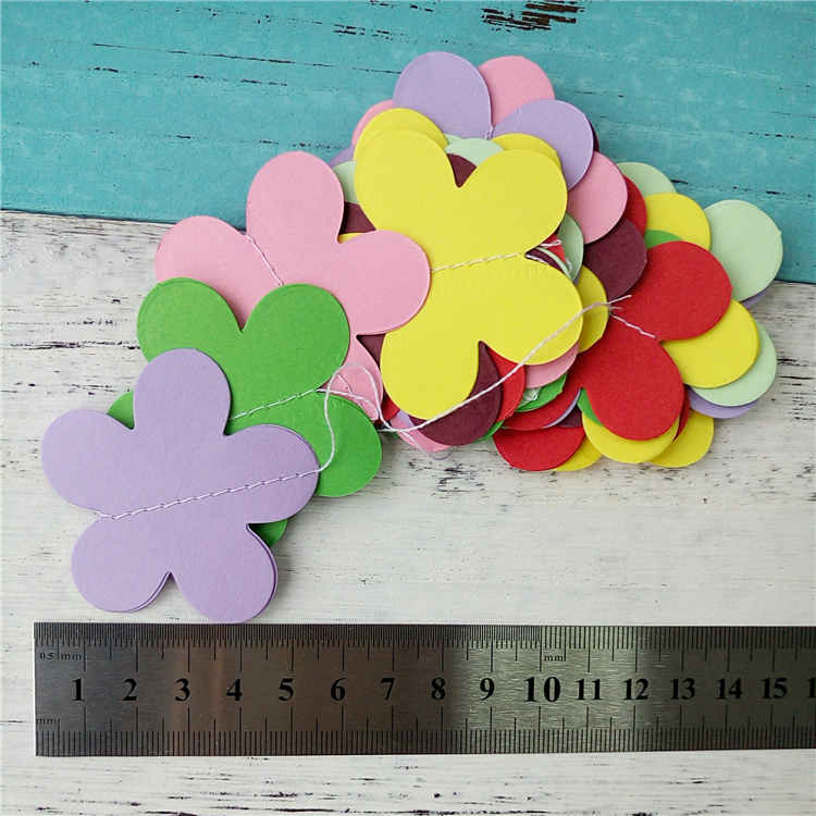 Multicolour 3D Flower Paper String Garland For Birthday Party Decoration