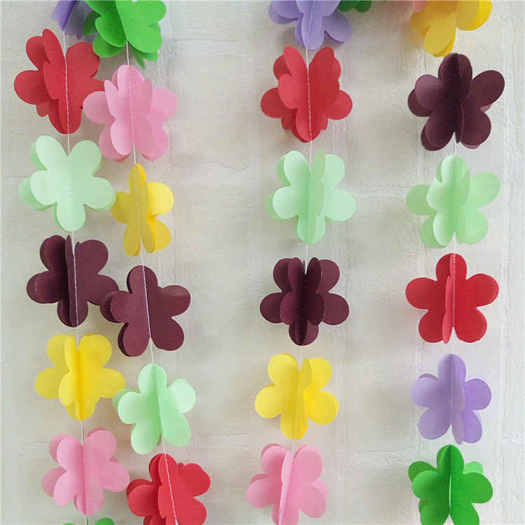 Multicolour 3D Flower Paper String Garland