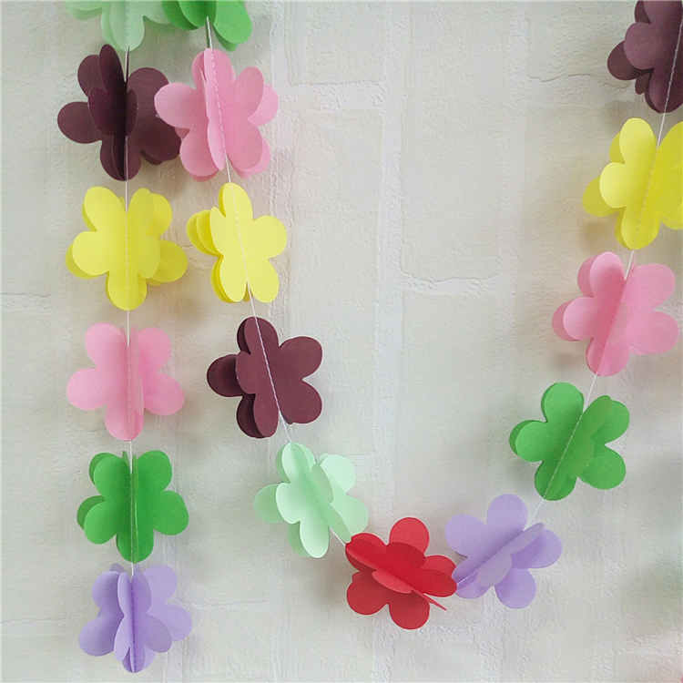 Paper String Garland For Birthday Party Decoration