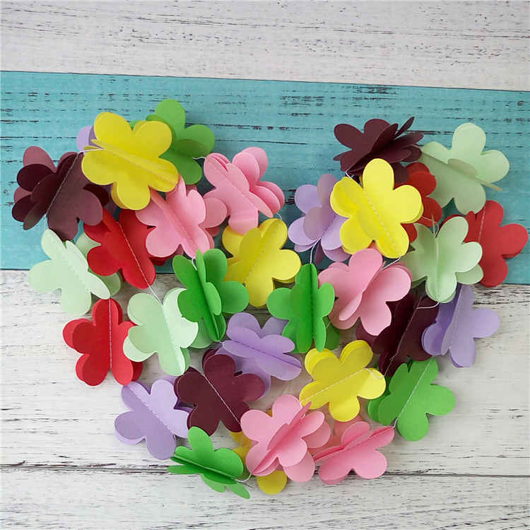 Flower Pape Garland For Birthday Party Decoration