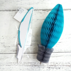 Bulb Shaped Tissue Paper Honeycomb Balls