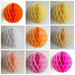 26 Color Tissue Paper Honeycomb Balls