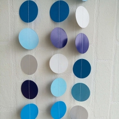 Blue and White  Circle Garland