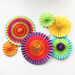 Colorful Pinwheel Craft Paper Fans