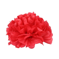 Umiss 2017New Design Colorful Tissue Paper Flower Pompom with Flash Point for Parties
