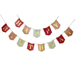 Table Runner Happy Birthday Banner Decortions