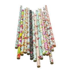 Flowers Printed Paper Straws Wholesale